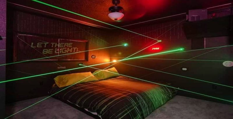 Funovation laser maze in a HOUSE ! - Great Escape Parkside luxury vacation home rental near Orlando, Florida