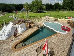 The Sweet Escape House's ice cream cone swimming pool - Rent this vacation home!