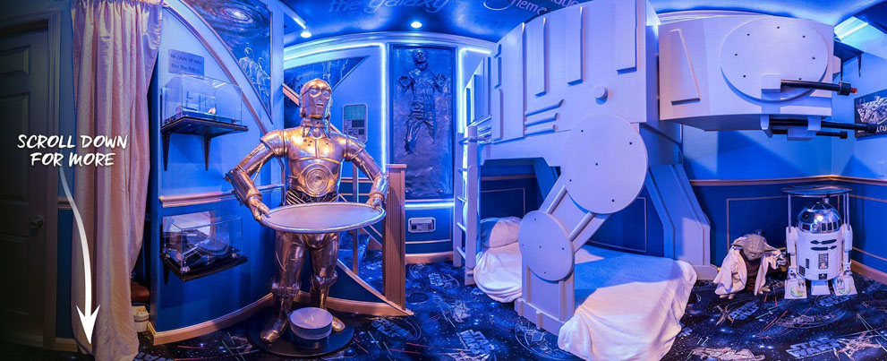 Star Wars Bedroom at The Ever After Estate Luxury Vacation Home Rental