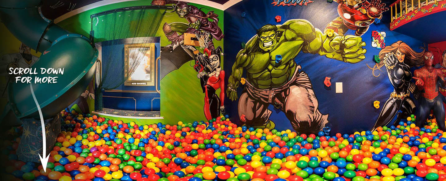 Marvel Vs. DC Superhero Bedroom at Ever After Estate luxury vacation rental home