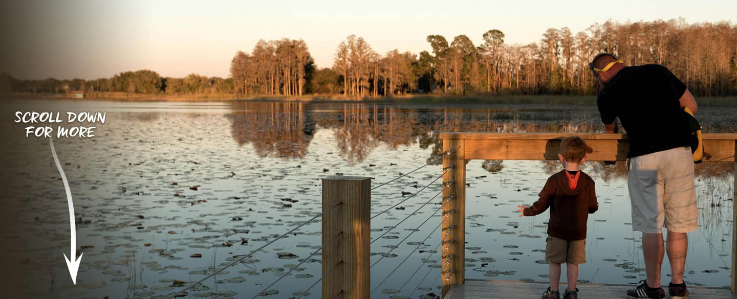 Orlando Vacation Rental Home On A Lake ! - The Jenga themed dock at The Great Escape Lakeside vacation rental