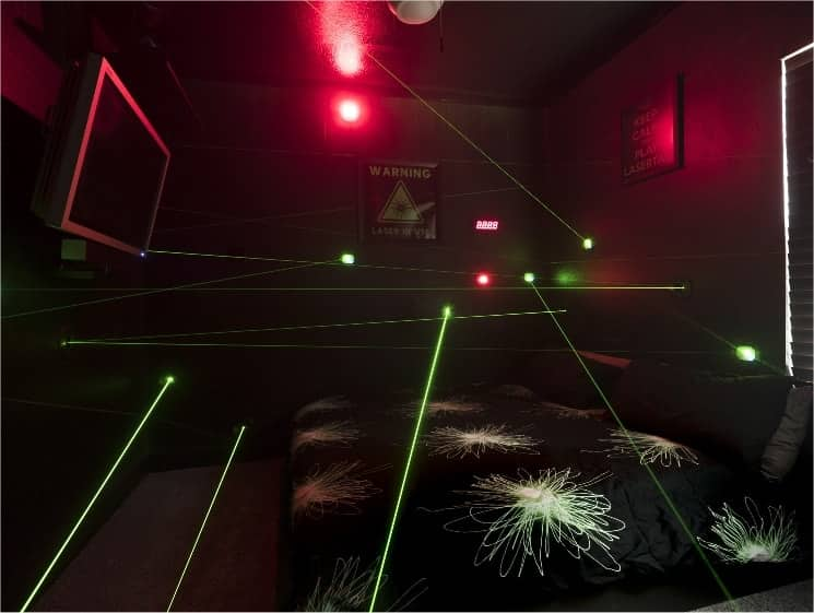 The Laser Maze at Great Escape near Orlando