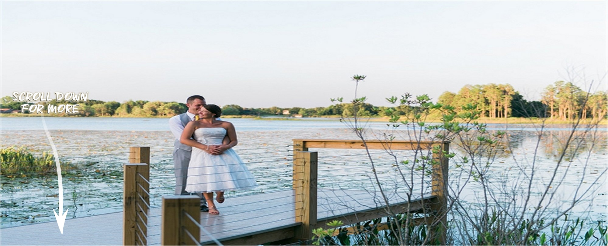 Nothing is romantic as the peace and serenity of nature - Get married at a house near Orlando, FL